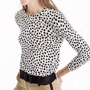 J.Crew Women's Sweater Tippy In Cat Print L